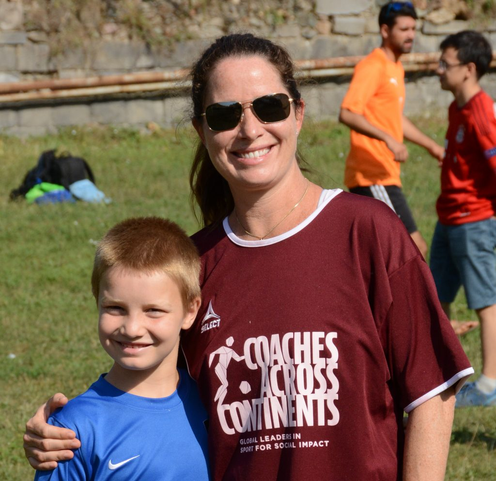 Andrea Montalbano and her son